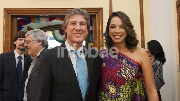 Boudou y su pareja, la mexicana Mónica García de la Fuente (Adrian Escandar)