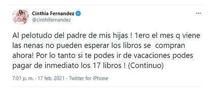 Fernández explotó contra Defederico por los útiles de sus hijas