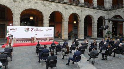 López Obrador comparó las cifras obtenidas hace dos años, durante los 11 meses de su segundo año en el cargo, cuando Enrique Peña Nieto estaba en el poder.  Es decir, no difirió de sus propios resultados obtenidos en 2019 (Foto: Presidente)