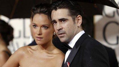 Colin Farrell y Alicja Bachleda, madre de su segundo hijo (Reuters)