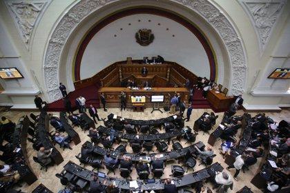 Vista del hemiciclo de la Asamblea Nacional de Venezuela. EFE/Miguel Gutiérrez/Archivo