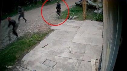 Captura de la cámara de seguridad en el momento del hecho