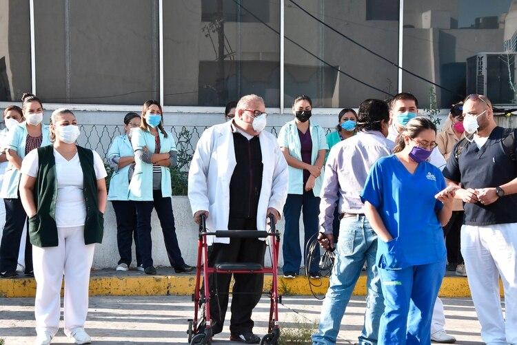 Son 1,500 personas las que laboran en el Hospital número 7 del Instituto Mexicano del Seguro Social (IMSS) en Monclova, Coahuila (Foto: EFE/Gustavo Rodríguez)