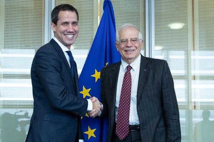 Resultado de imagen para Juan Guaidó con Josep Borrell