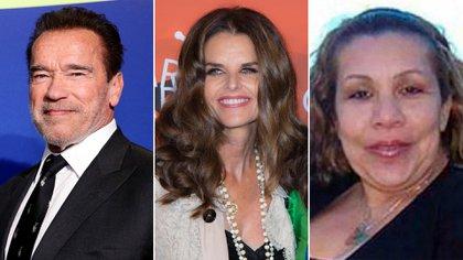 Arnold Schwarzenegger, Maria Shiver y Patty Beana