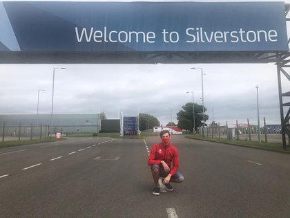 Varrone, en Silverstone: viajó a Europa el pasado jueves para participar de la temporada de la F3 británica
