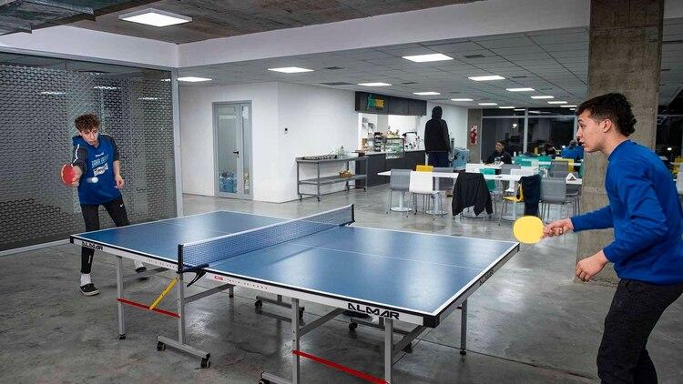 El tenis de mesa es otra de las disciplinas que se practica en el predio