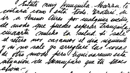 Perón le hablaba del retiro, de que quería cuidarla, de que iba a arreglar todo para que ella estuviera bien y en paz