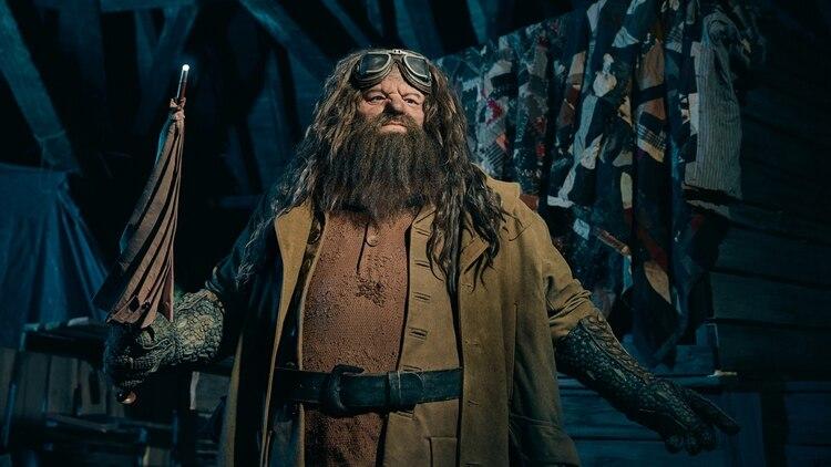La figura de Rubeus Hagrid que se aprecia en la motaña rusa mide más de dos metros.