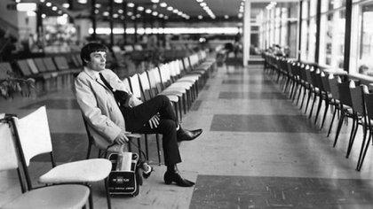 Nicol en el aeropuerto de Australia