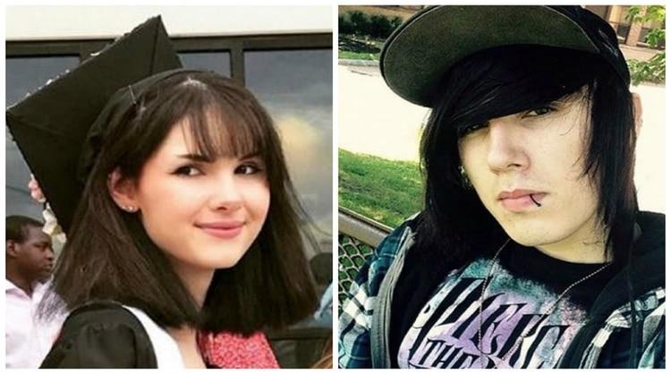 Brandon Andrew Clark (derecha) está acusado de asesinar a su ex novia, Bianca Devins (Foto: Instagram)
