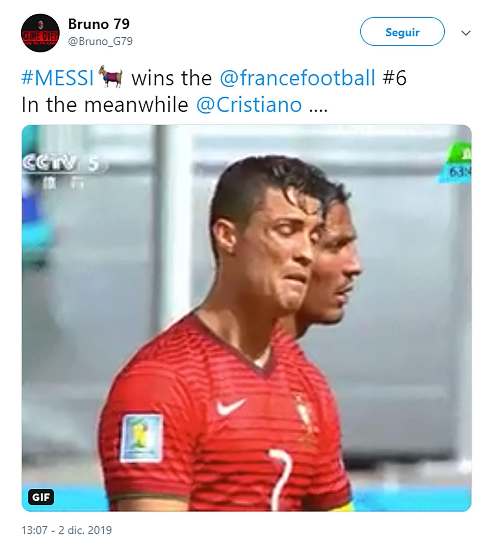 """""""Messi gana su sexto Balón de Oro. Mientras tanto, Cristiano Ronaldo..."""""""