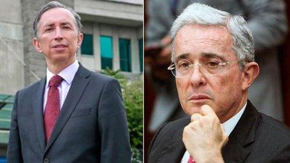 Coordinador de los fiscales delegados de la ante Corte Suprema de Justicia, Gabriel Ramón Jaimes Durán - Expresidente de Colombia, Álvaro Uribe Vélez.