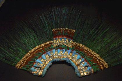 Penacho de Moctezuma es uno de los objetos más representativos de la cultura mexicana en el extranjero (Foto: EFE)