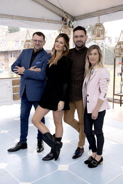 "Christophe Krywonis, Paula Chaves, Damián Betular y Pamela Villar: el equipo de ""Bake Off"""