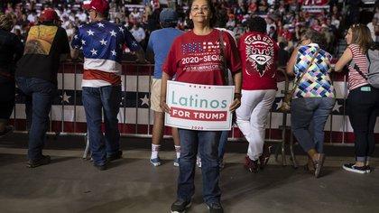Yolanda Castro en un evento de Donald Trump Río Rancho, Nuevo México. (Adria Malcolm/The New York Times)