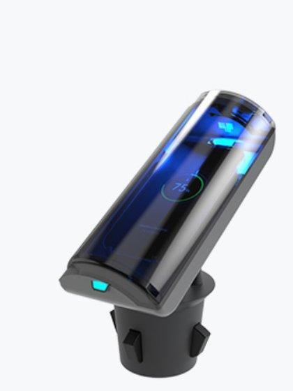 M-Puregadget está pensado para llevar en el auto y utilizar para higienizar objetos pequeños