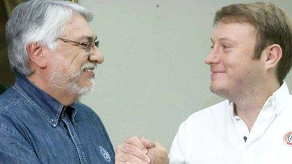 Fernando Lugo junto a su yerno, Luis Alfredo Paciello, en plena campaña electoral (Foto de campaña)