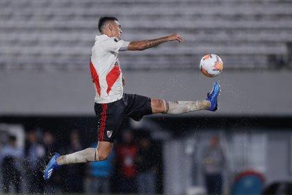 Matías Suárez, figura del River Plate de Gallardo. Y también referente, tras la salida de nombres fuertes, como Nacho Fernández (EFE/Juan Ignacio Roncoroni/Archivo)