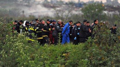 El cuerpo de la joven fue hallado un mes después a orillas del arroyo Morón, a pocos metros del predio de la Ceamse, en la localidad de José León Suárez  (Télam)