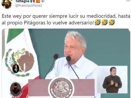 Imagen del video falso y editado que circula en redes sociales  (Foto: Twitter/ Captura de Pantalla @FranciscoFlora3)