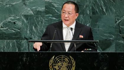 El ministro de Relaciones Exteriores del régimen norcoreano, Ri Yong Ho. (Reuters)