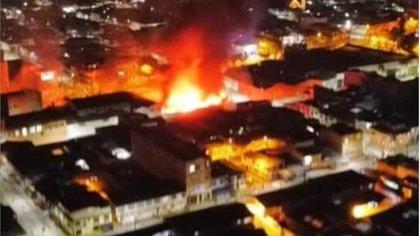 Disturbios e incendios en la jornada de protestas del viernes en Popayán
