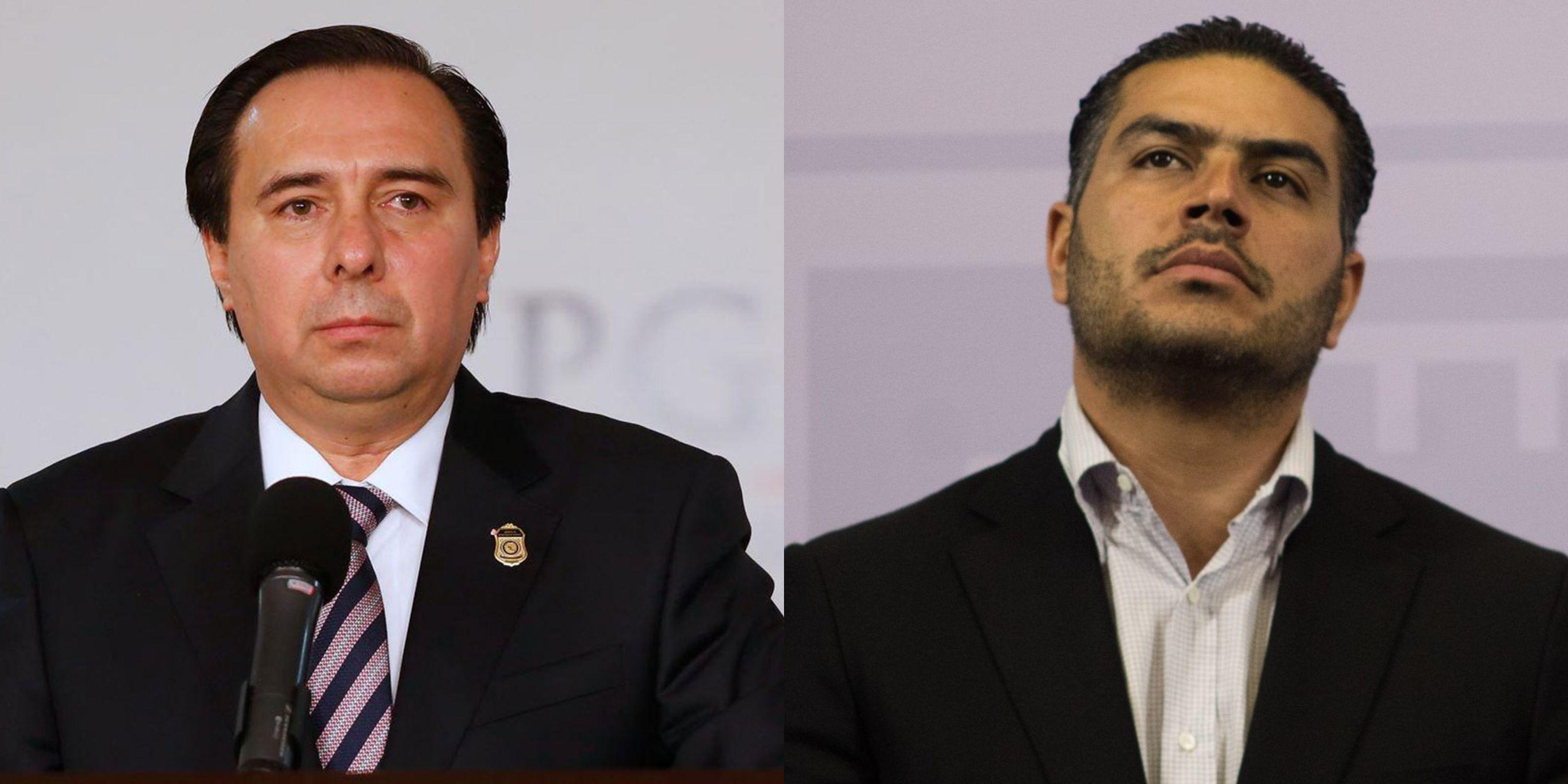 Tomás Zerón y Omar García Harfuch (Foto: Cuartoscuro)