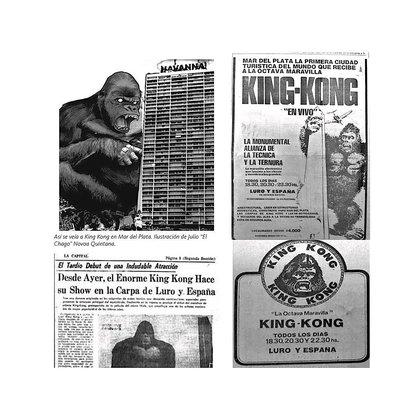 Los anuncios de King Kong en la Argentina