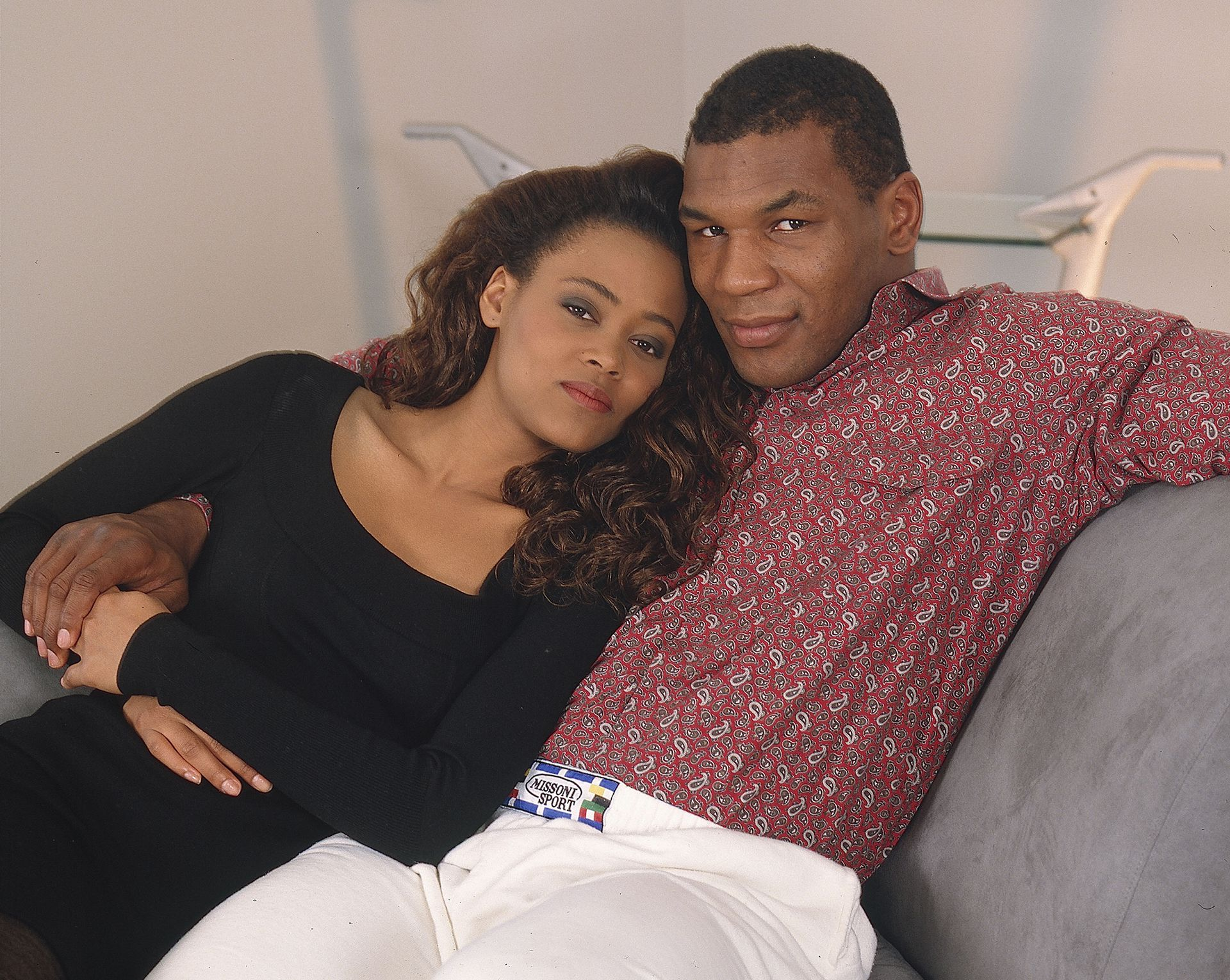 Portrait Of Robin Givens & Mike Tyson