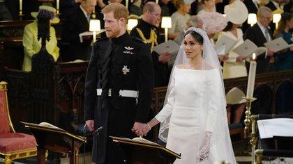 La boda del príncipe Harry y Meghan Markle, cuando nada hacía pensar que abandonarían a la familia real británica (AFP)