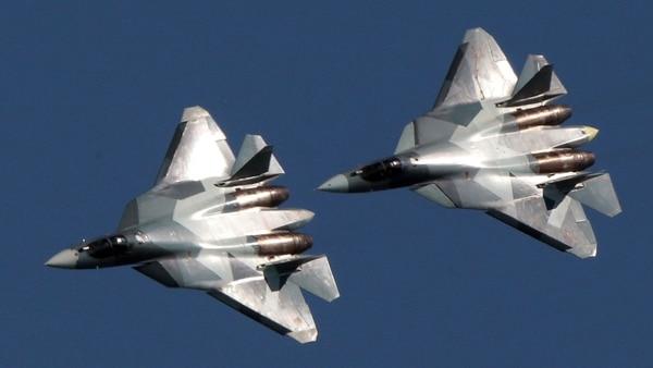 Los cazas furtivos rusos Su-57 en Siria