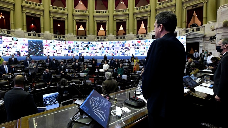 Posiblemente el próximo miércoles haya otra sesión mixta en Diputados (Telam)
