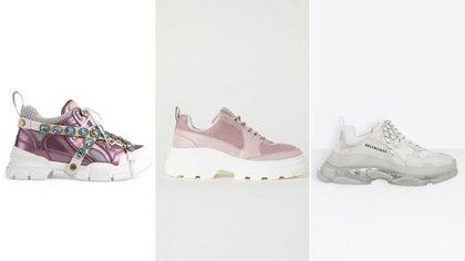 Gucci, H&M y Balenciaga crearon tres modelos diferentes de los ugly shoes