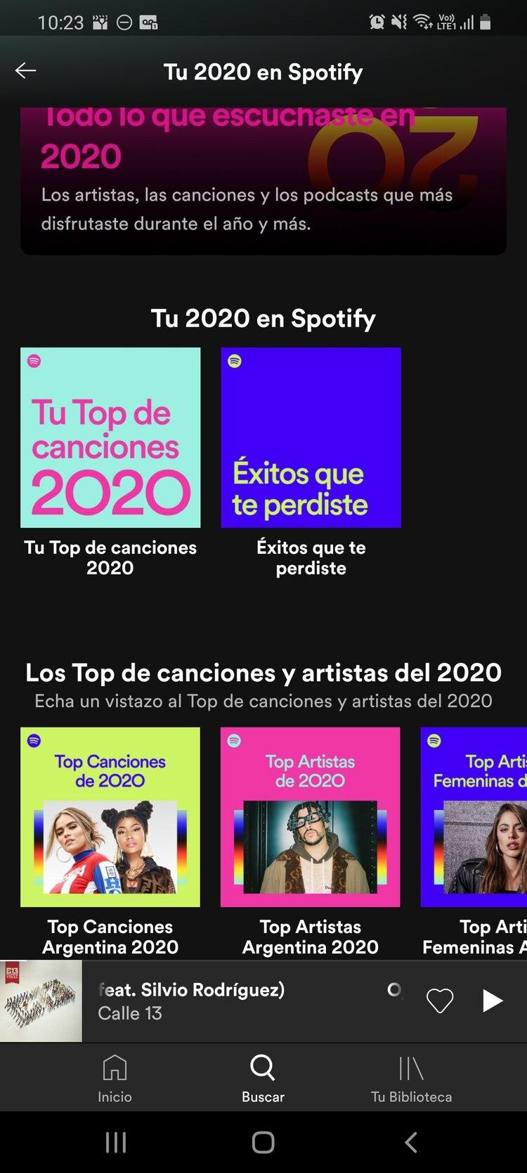 Spotify wrapped 2020 te ofrece un resumen de lo que más escuchaste en el año