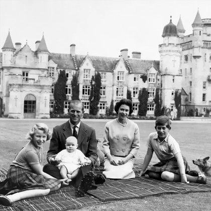 La familia real en Balmoral