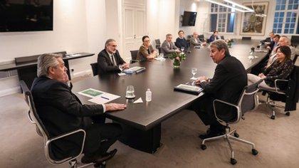 Meses atrás, la reunión del presidente Alberto Fernández con representantes del Consejo Agroindustrial Argentino (Foto: Presidencia)