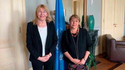 Luisa Ortega Díaz y Michelle Bachelet