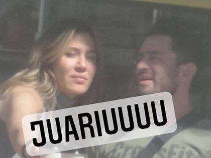 Jimena Barón y Tucu López (Crédito: @juariu)