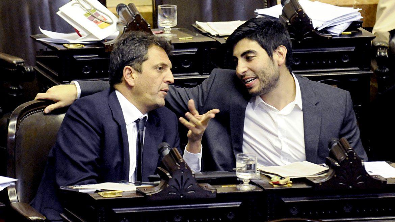 Facundo Moyano y Sergio Massa