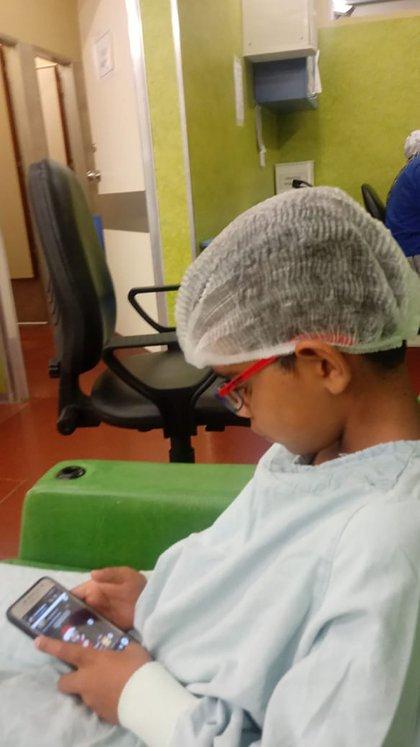 Hace diez años que el pequeño se atiende en el Hospital Garrahan