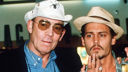 Hunter Thompson con Johnny Depp