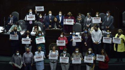 Morena también se expresó en la tribuna de la Cámara de Diputados (Foto: Cuartoscuro)