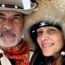 Verónica Lozano y El Corcho Rodríguez (Foto: Instagram @corchorodriguezok)