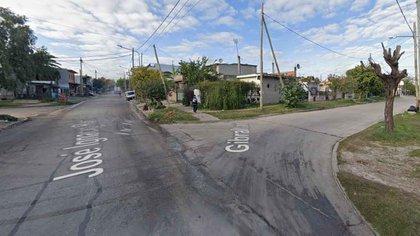 El episodio ocurrió el sábado pasado en una casa de la localidad de San Justo (Google Street View)