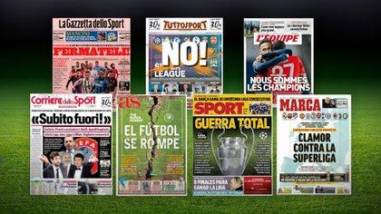 Impacto mundial por la creación de la Superliga: 14 portadas de los diarios de Europa