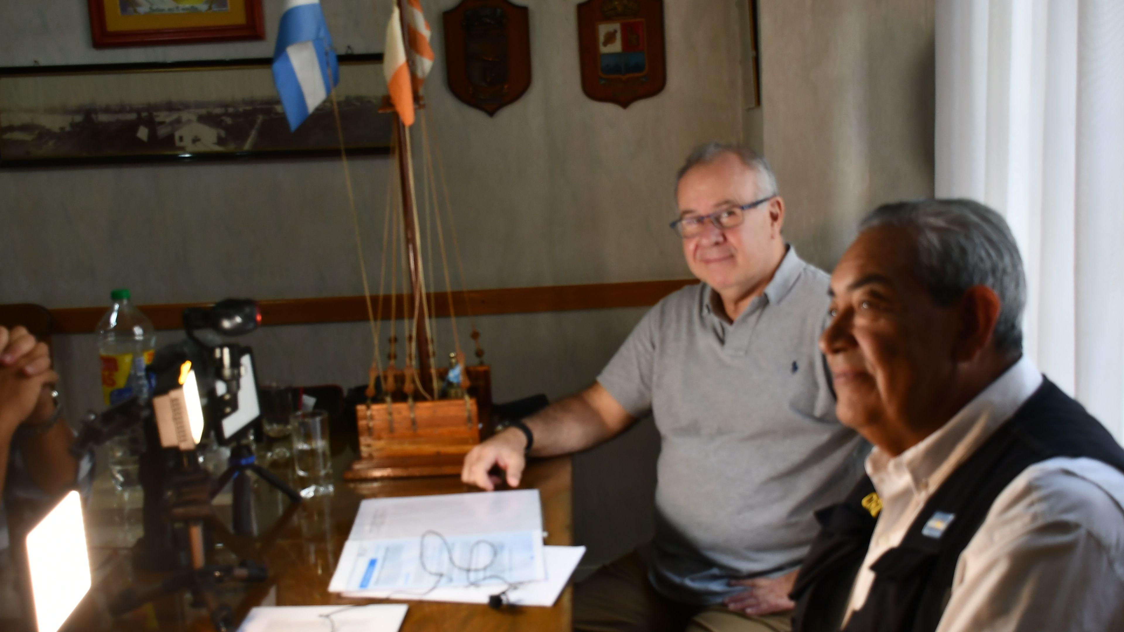 Representantes de los Prácticos con Infobae en marzo de 2020 en los albores de la pandemia