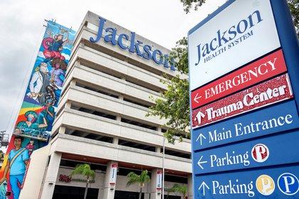 El Hospital Jackson Memorial de Miami (EE.UU.). Foto: EFE/EPA/CRISTOBAL HERRERA