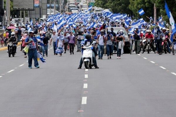 Una manifestación en contra del gobierno de Daniel Ortega en Managua (Oswaldo Rivas/Reuters)