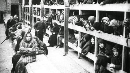El terrible hacinamiento en los campos de concentración. Así dormían los prisioneros judíos del régimen nazi (Archivo)